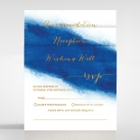 At Twilight with Foil Wedding Invite