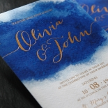At Twilight with Foil Invite Card