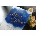 At Twilight with Foil Wedding Invite Design