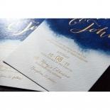 At Twilight with Foil Invitation Card Design