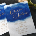 At Twilight with Foil Invitation Design