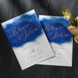 At Twilight with Foil Wedding Card