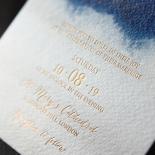 At Twilight with Foil Wedding Invitation Design