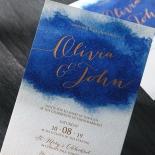 At Twilight with Foil Wedding Invitation Card Design