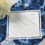 Azure  with Foil Invite Card