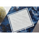 Azure  with Foil Invitation Card Design