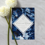 Azure  with Foil Wedding Card