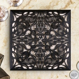 Black Divine Damask Wedding Invite Design