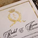 Black Doily Elegance with Foil Invite Design