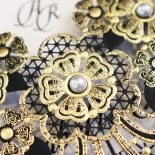 Black Lace Drop Wedding Card Design