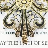 Black Lace Drop Wedding Invite Card Design
