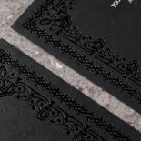 Black on Black Victorian Luxe Invite Card