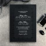 Black on Black Victorian Luxe Invite