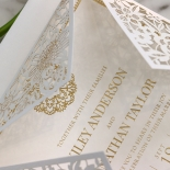 Blooming Charm with Foil Invitation Design
