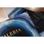 Blue Aurora Invite Design