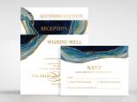 Blue Aurora Invitation Design