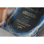 Blue Aurora Wedding Invitation Card Design