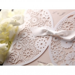 Classic themed flower patterned celebration card with ribbon