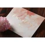 Blushing Rouge with Foil Invite Card Design