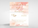Blushing Rouge with Foil Wedding Invite