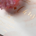 Blushing Rouge with Foil Invite