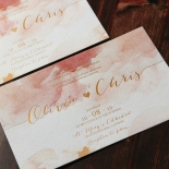 Blushing Rouge with Foil Wedding Invite Design