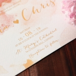 Blushing Rouge with Foil Invitation Card Design