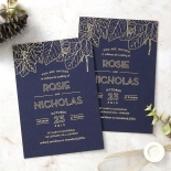 Botanical Canopy Wedding Invite Card