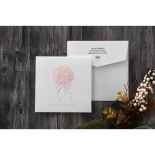 Pink roses bouquet designed announcement card
