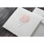 Rose bunch embossed bridal card with classic theme