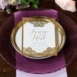Breathtaking Baroque Foil Laser Cut Wedding Invitation