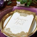 Breathtaking Baroque Foil Laser Cut Wedding Invitation Card