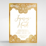 Breathtaking Baroque Foil Laser Cut Wedding Card