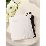 Envelope and bride and groom designed classic invitation