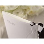 Embossed designed classic invitation, top view