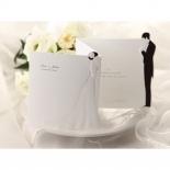 Bride and groom designed traditional tri fold invite