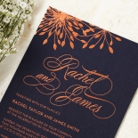 Bursting Bloom Invitation Card Design