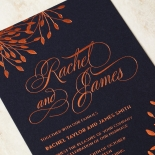 Bursting Bloom Wedding Invitation Card Design