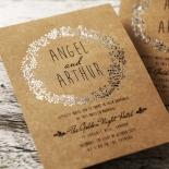 Charming Garland Wedding Invite Card