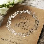 Charming Garland Stunning invitation card