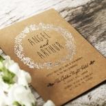 Charming Garland Wedding Invite