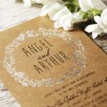 Charming Garland Invitation Card