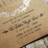 Charming Garland Wedding Invitation Card
