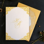 Charming Lace Frame Wedding Invite Card