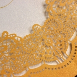 Charming Lace Frame Wedding Invitation