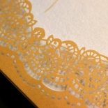 Charming Lace Frame Invitation Card