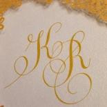 Charming Lace Frame Wedding Invitation Card