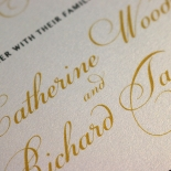 Charming Lace Frame Wedding Card