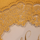 Charming Lace Frame with Foil Invite Card Design