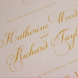Charming Lace Frame with Foil Invite